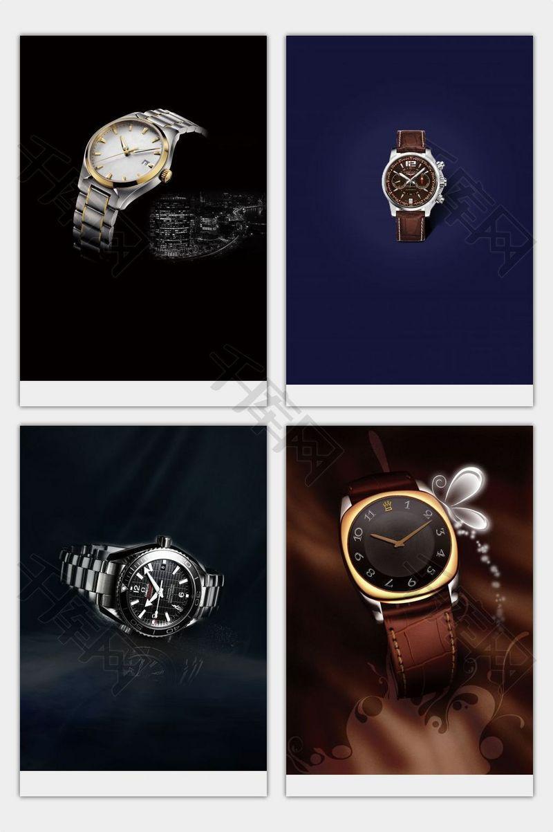 簡約奢華手表海報背景素材