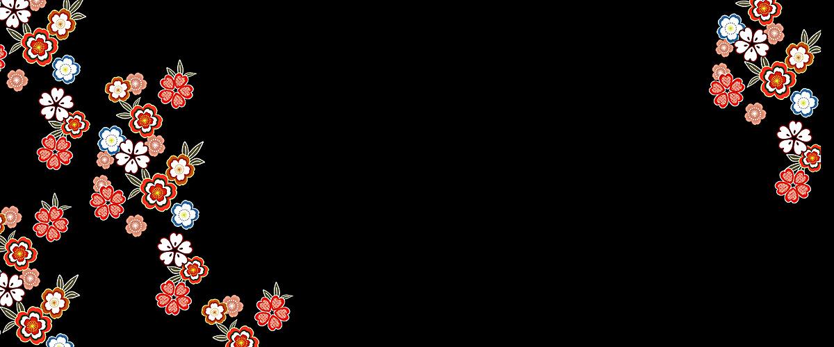和风日式花朵图案jpg素材-90设计