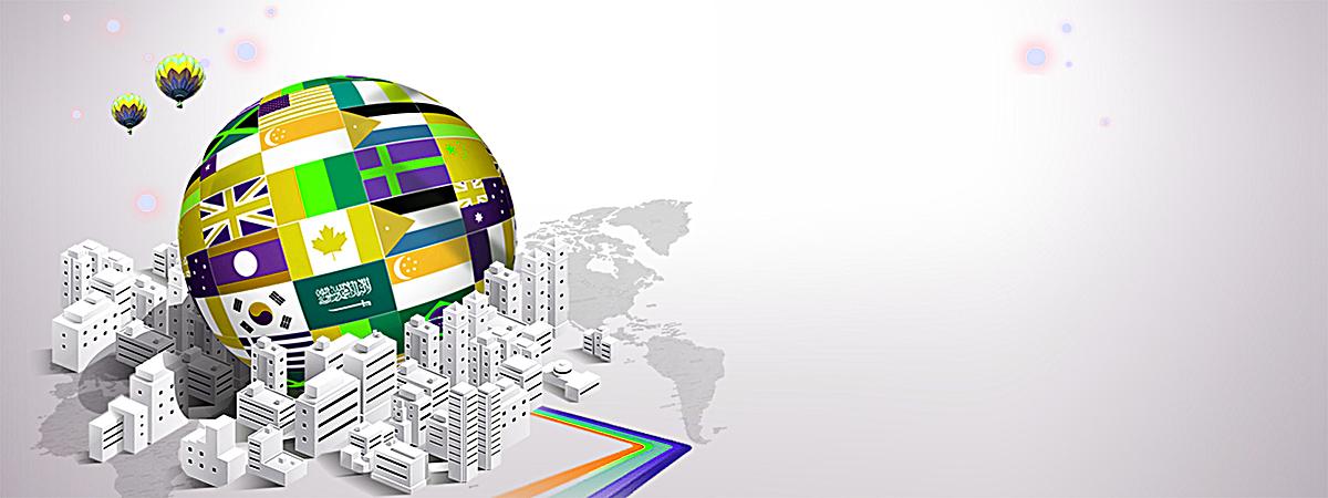 扁平地球城市背景jpg素材-90设计