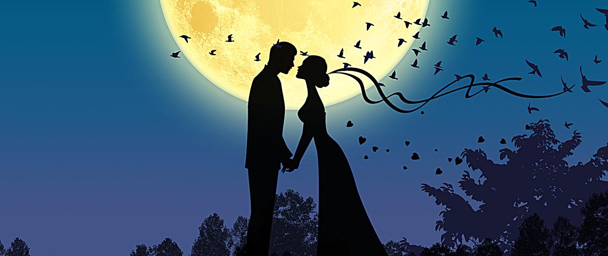 浪漫情侣背景