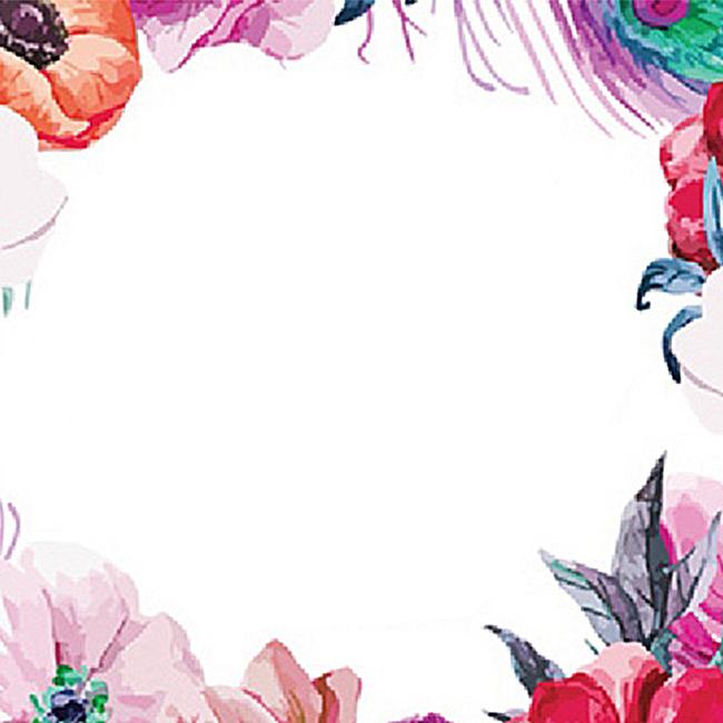 森系唯美花饰背景jpg素材-90设计