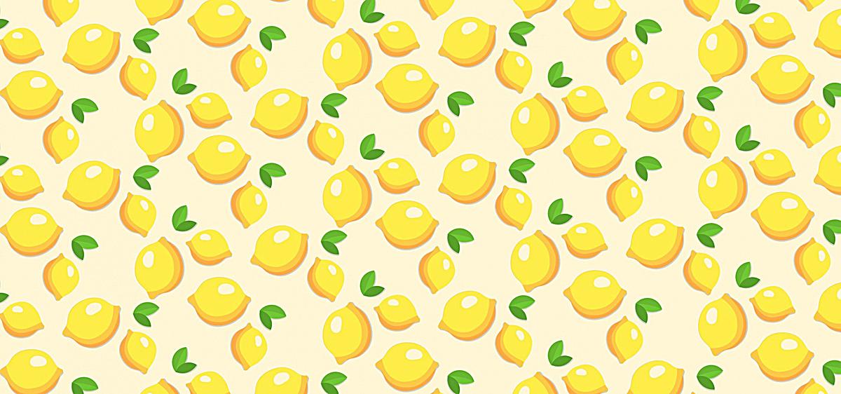 清新柠檬手绘背景图jpg素材-90设计