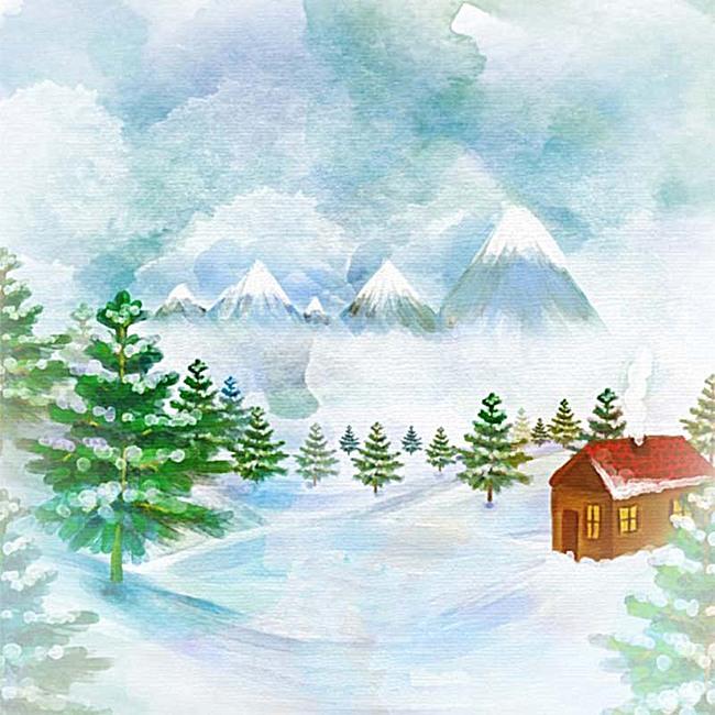 乡村手绘背景图