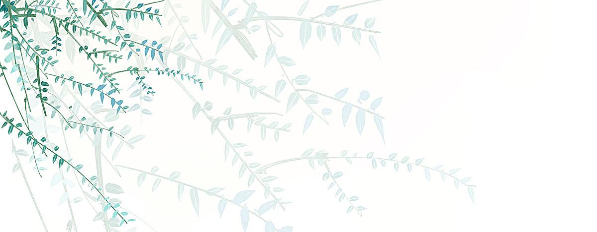 日系手绘树叶淘宝背景