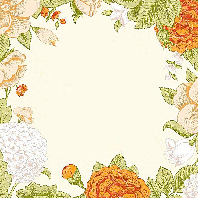唯美清新花环背景图图片