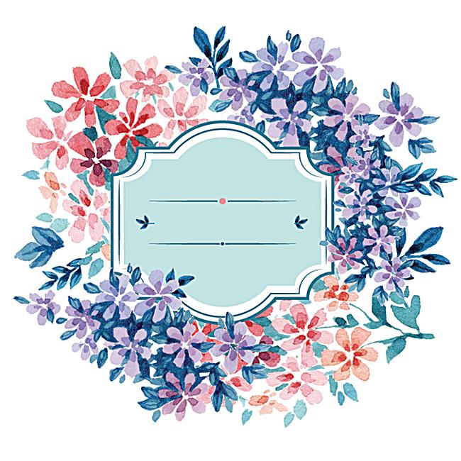 森系手绘花卉背景