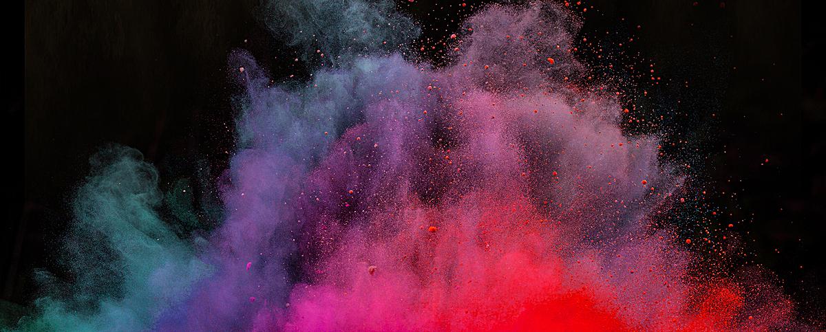 彩色烟雾背景psd素材-90设计