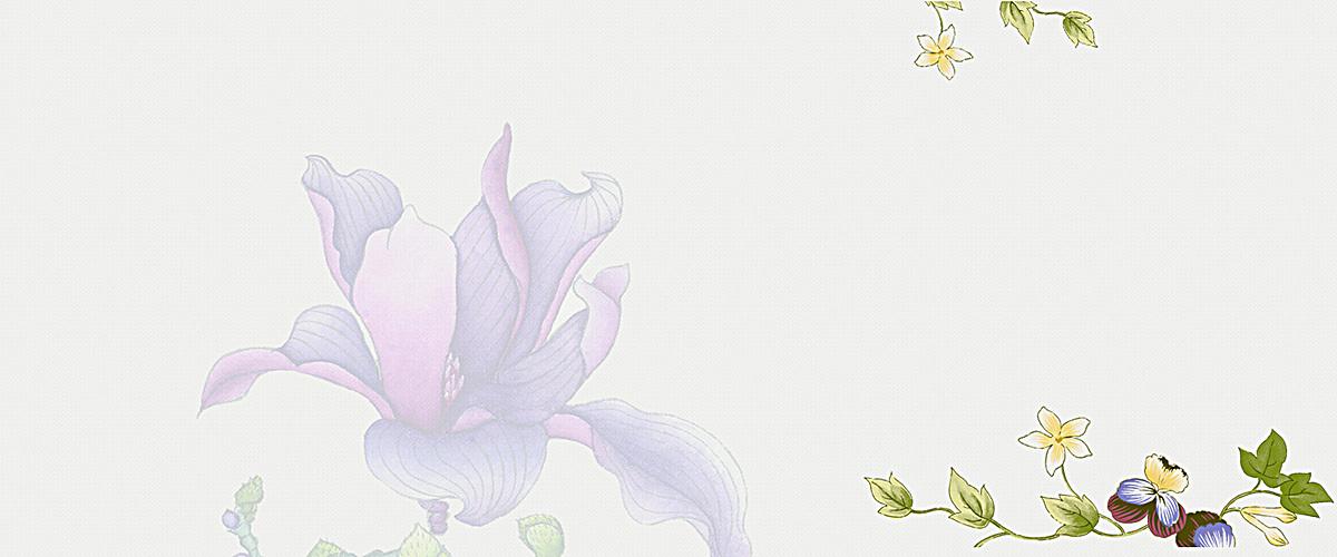 女装新品小清新手绘花朵背景