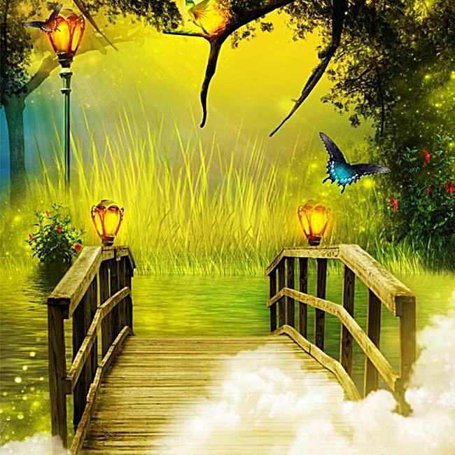 梦幻童话森林背景图