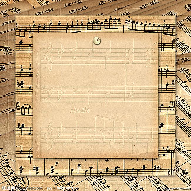 复古音符背景图