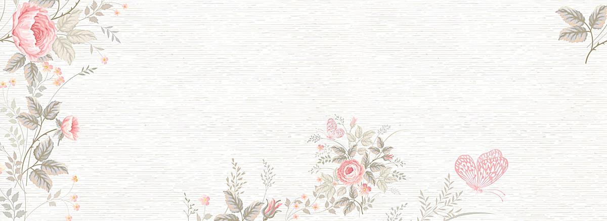 淡色小清新文艺水彩手绘花朵背景
