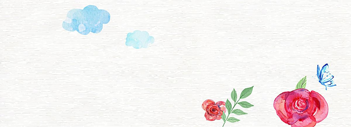 小清新文艺水彩手绘花朵背景
