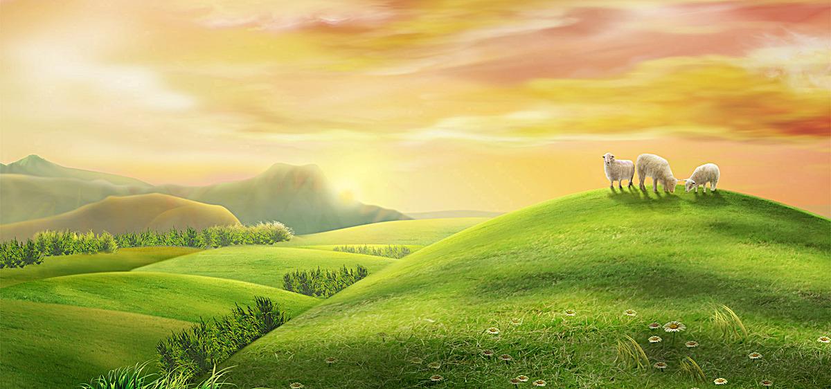 图片 > 【jpg】 田园风景绿草地背景  分类:自然/风景 类目:其他 格式