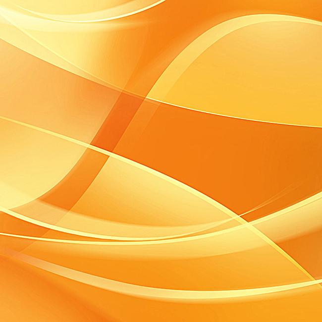 橙色渐变几何曲线主图背景