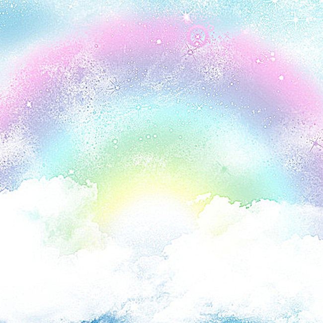 图片 > 【jpg】 唯美梦幻彩虹背景图  分类:艺术字体 类目:其他 格式