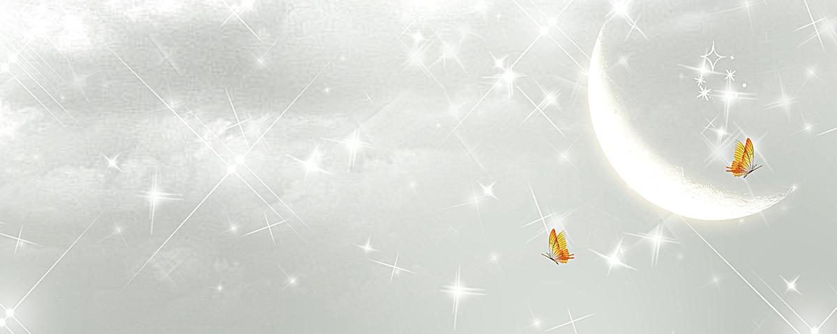 网站背景_浪漫月亮蝴蝶淘宝网站背景图