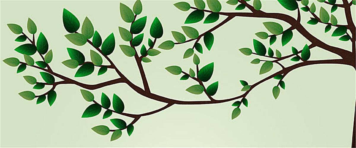 卡通树枝背景