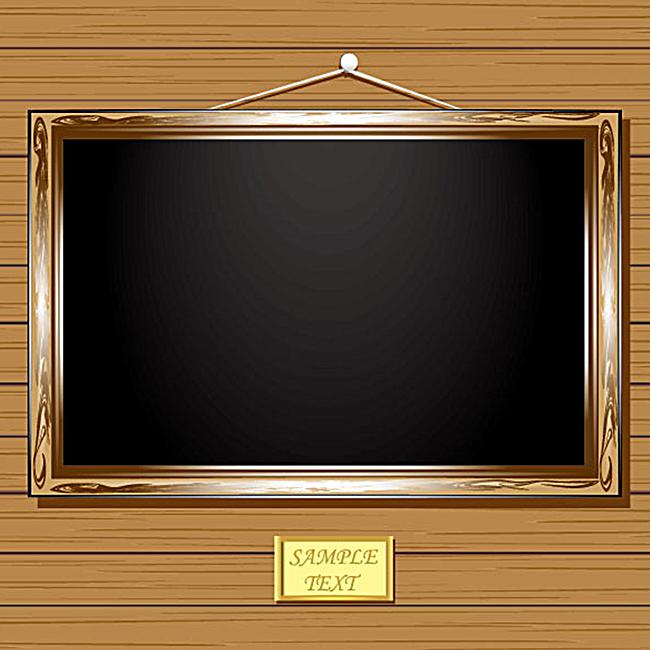 简约边框黑板背景