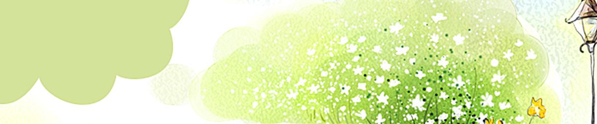 小清新绿色路灯bannerjpg素材-90设计