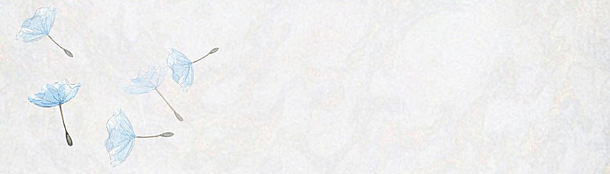 01m 尺寸:1920*548 90设计提供蓝色花瓣文艺背景设计素材下载,高清psd