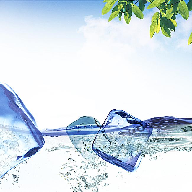 图片 > 【jpg】 夏日劲爽冰块背景  分类:自然/风景 类目:其他 格式