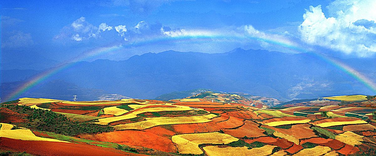 图片 > 【jpg】 彩色梯田彩虹天空  分类:自然/风景 类目:其他 格式