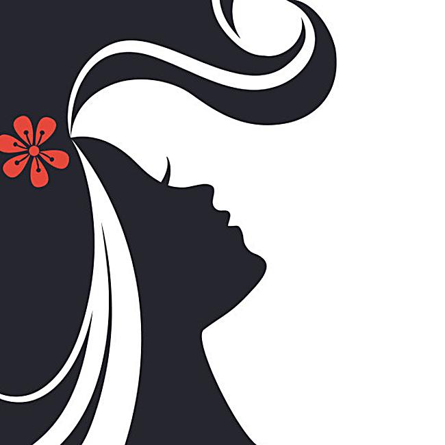 创意女人彩妆背景图
