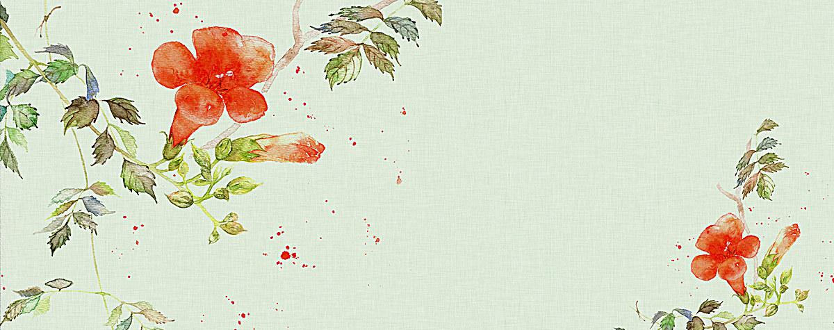 文艺清新水彩手绘花朵淘宝棉麻古风女装背景