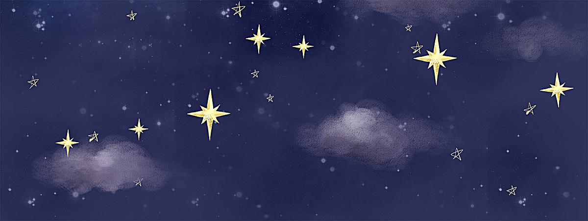 清新星空手绘简约背景图
