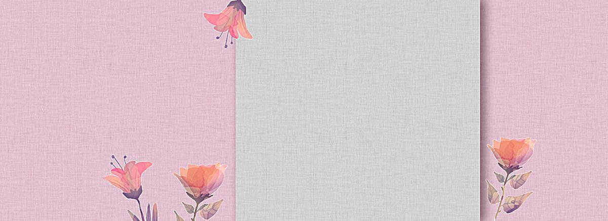 文艺清新水彩手绘花朵背景