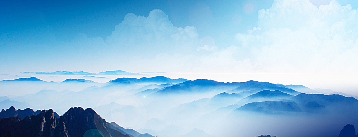 大气山川河流风景背景图