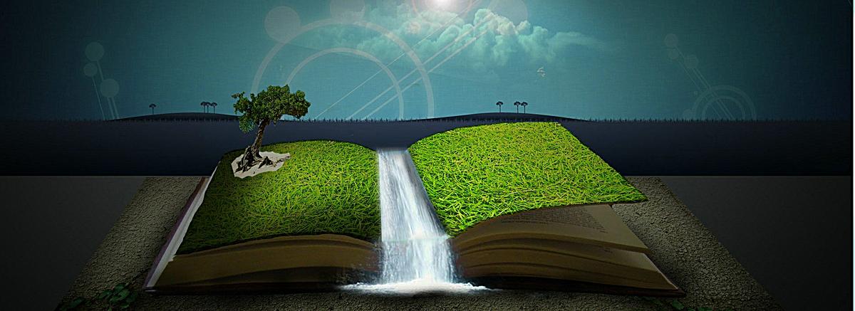 创意书本绿色背景