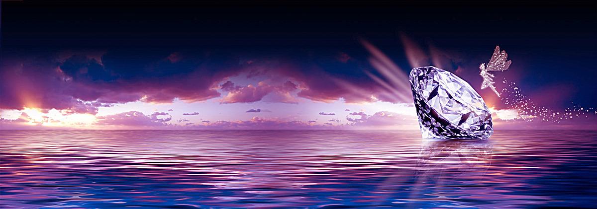 梦幻唯美钻石仙子背景jpg素材-90设计