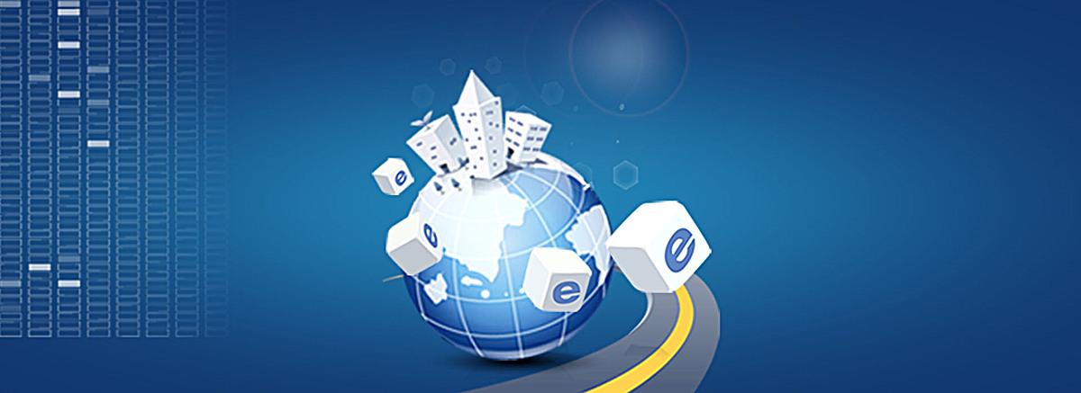 蓝色科技互联网背景psd素材-90设计图片