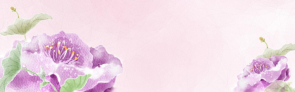 点击右侧免费下载按钮可进行简约花朵水墨画背景淘宝设计素材高速下载