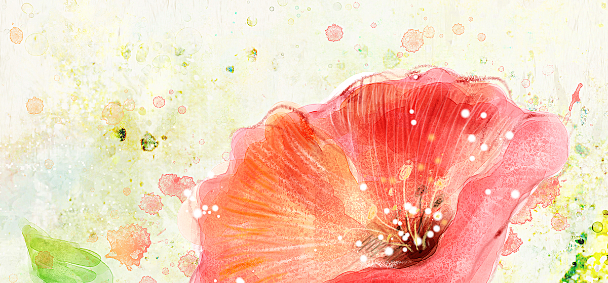 水彩手绘文艺背景