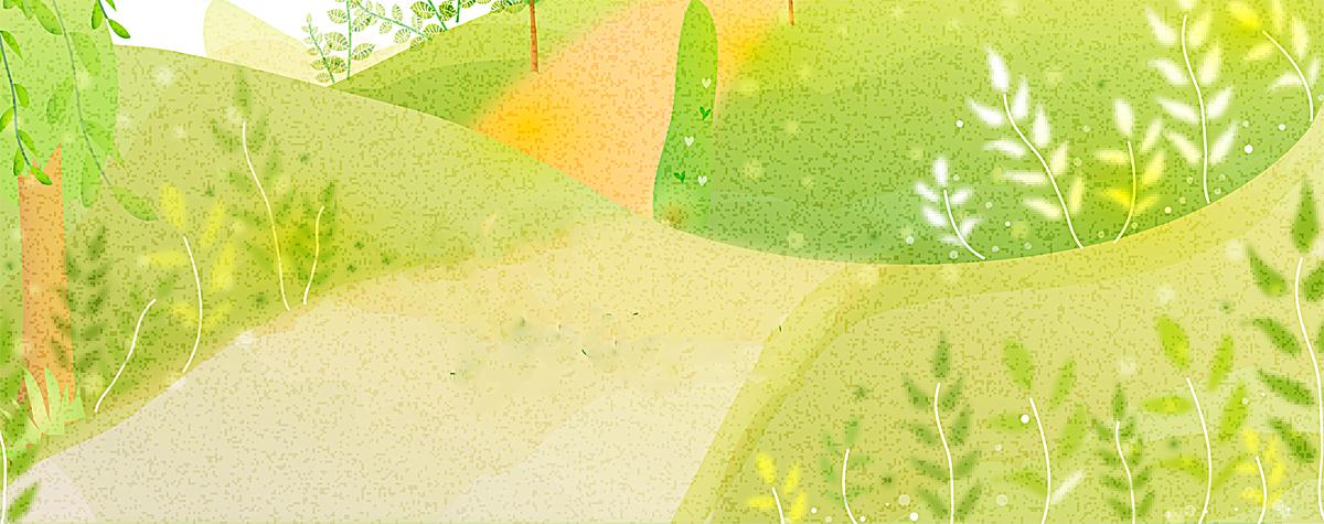 绿色手绘清新背景图