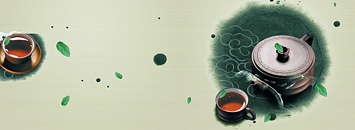 古风古韵茶叶bannerjpg素材-90设计