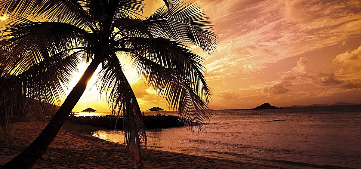 浪漫海边风景背景