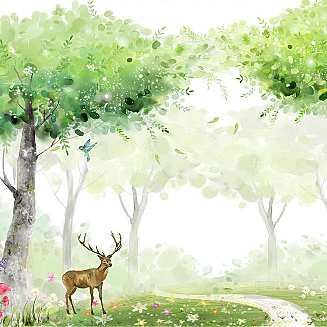 清新简约森林背景图