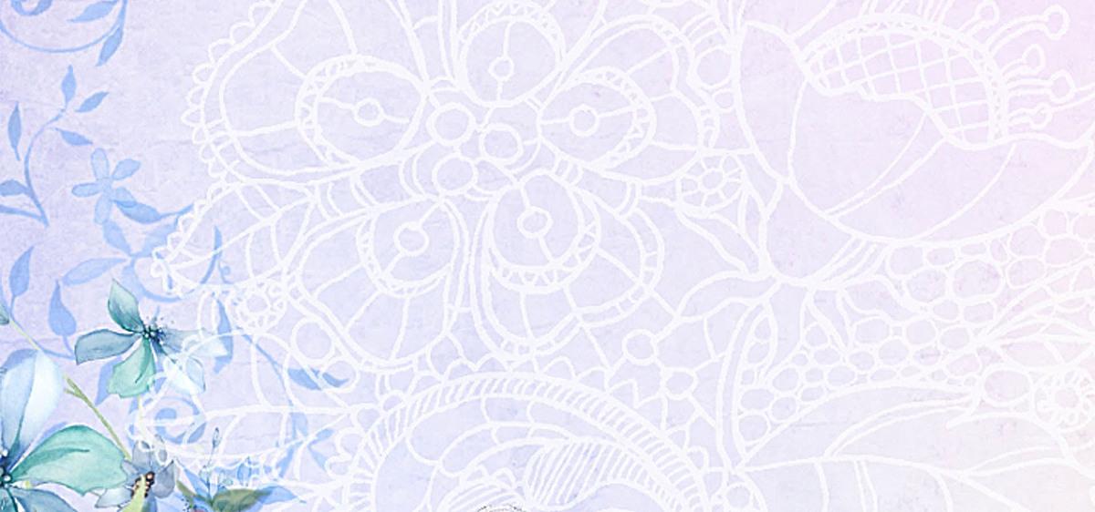 清新文艺手绘花纹理背景