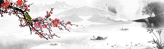 复古中国风水墨画
