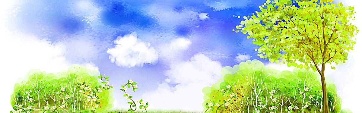 文艺清新风景banner