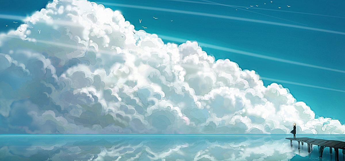 图片 > 【jpg】 卡通唯美天空背景  分类:卡通/手绘 类目:其他 格式:j