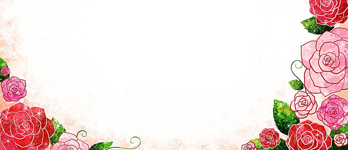 复古手绘花朵文艺背景