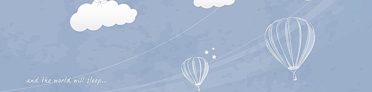 手绘白云气球浅色背景
