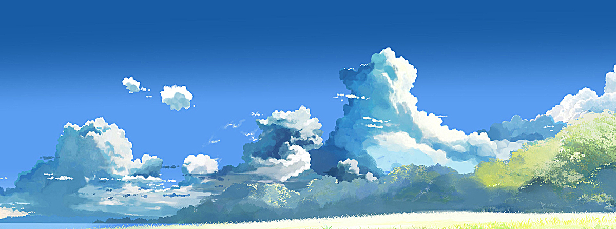 手绘云朵背景