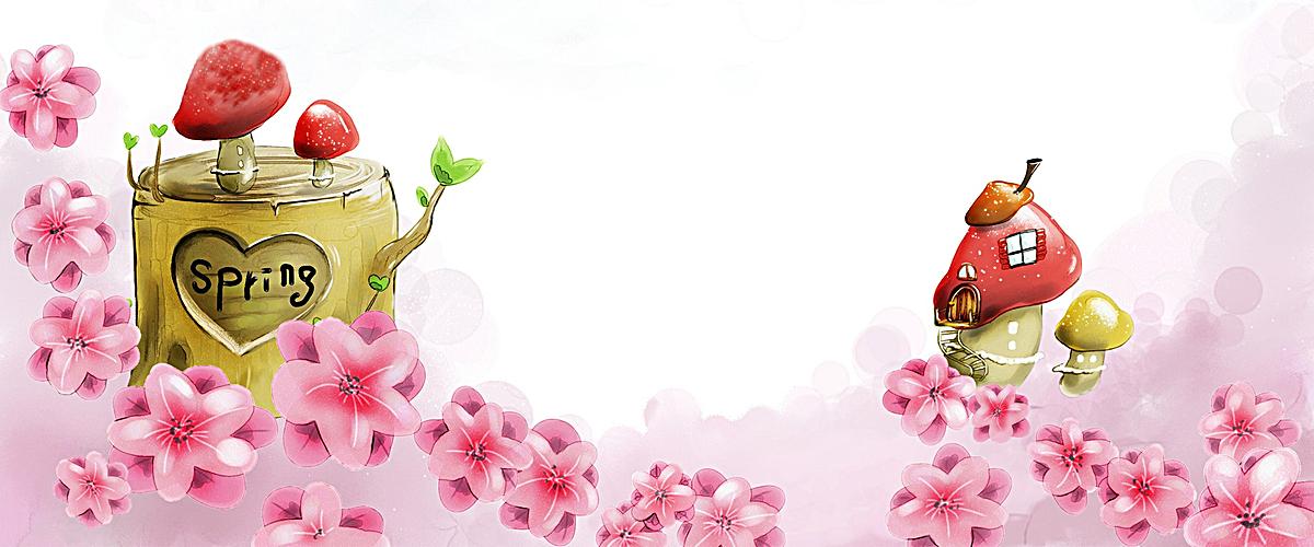 banner背景 淘宝背景素材 手绘背景