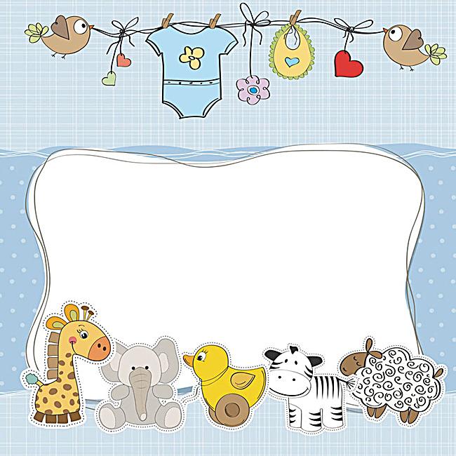 卡通 童趣 动物 儿童 衣服 主图 手绘 手机端:卡通童趣动物背景图