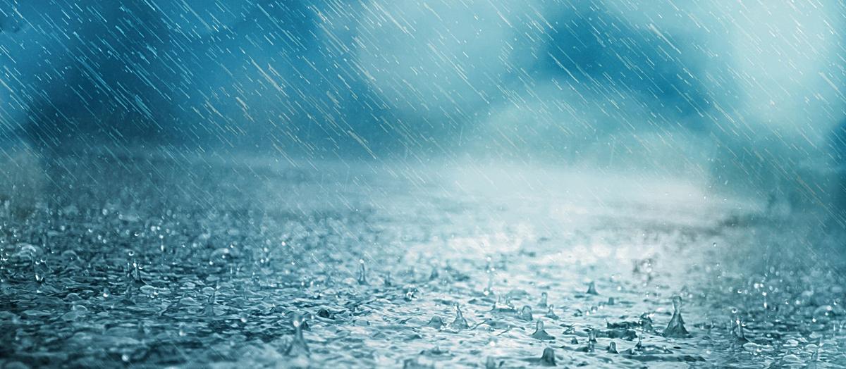手绘彩铅雨水图片